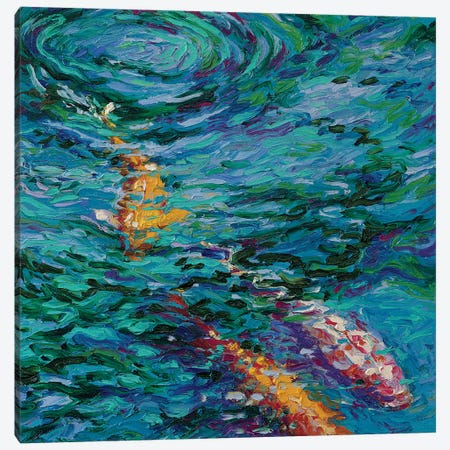 Koi Pool Canvas Print #IRS110} by Iris Scott Canvas Artwork