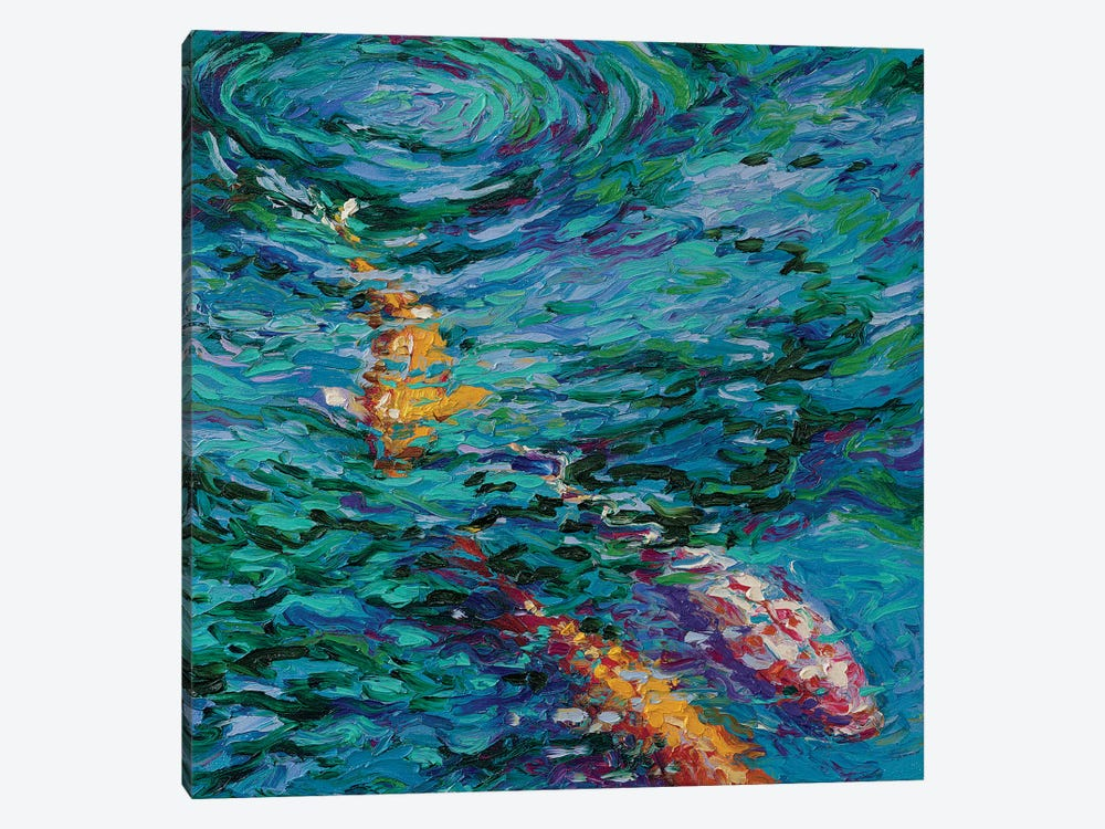Koi pool canvas artwork by iris scott icanvas for Koi prints canvas