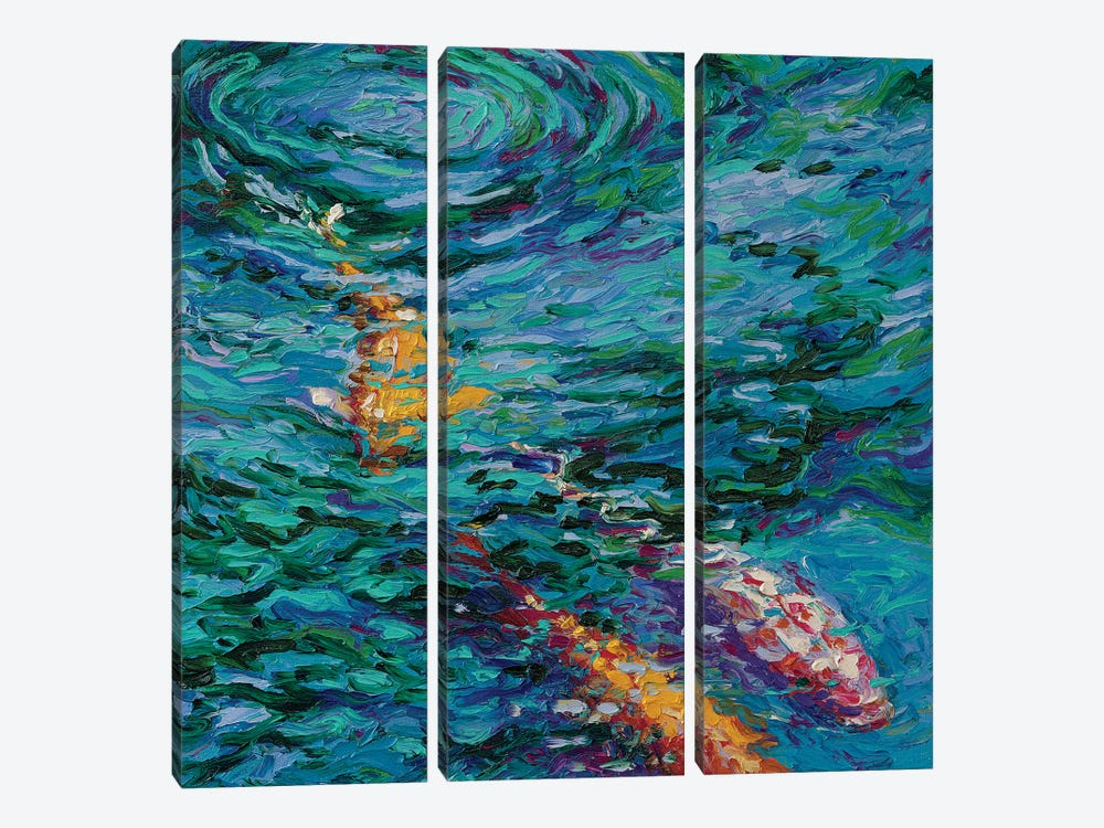 Koi Pool by Iris Scott 3-piece Canvas Art
