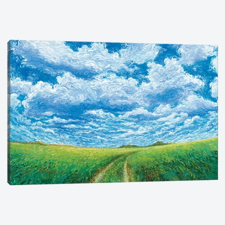 Lazy TL Ranch Canvas Print #IRS111} by Iris Scott Canvas Artwork