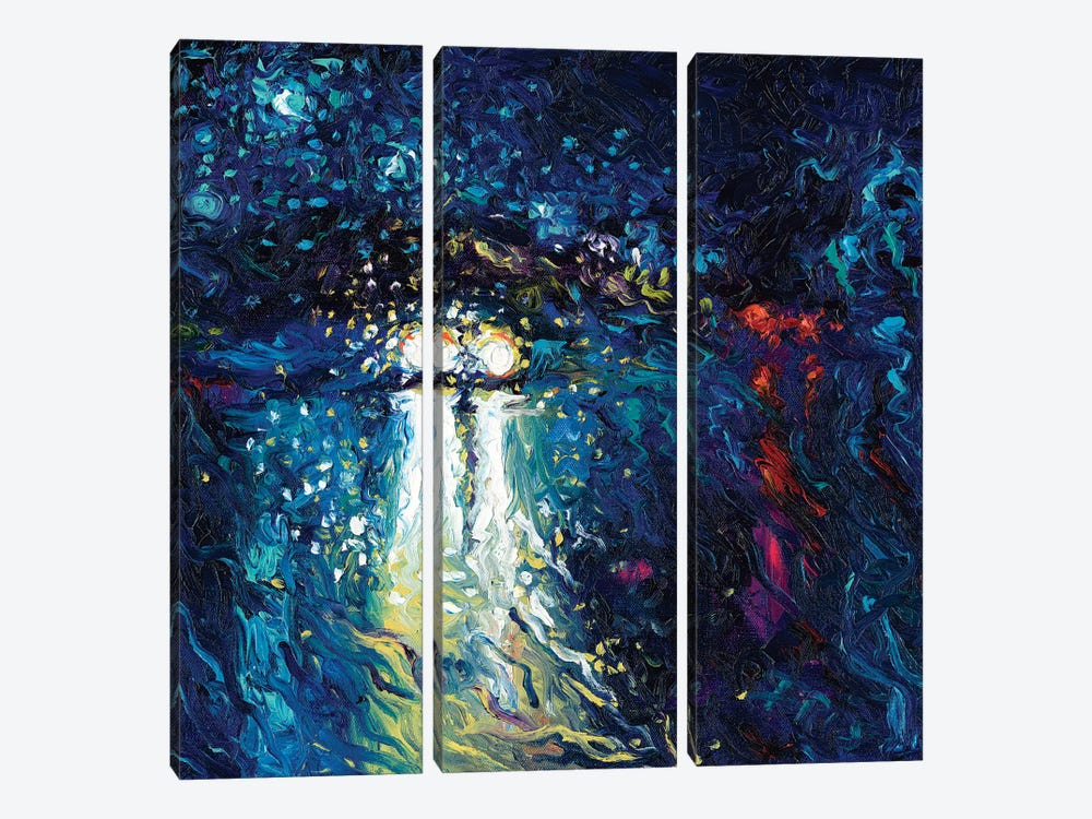 Mini Cooper Oncoming by Iris Scott 3-piece Canvas Art