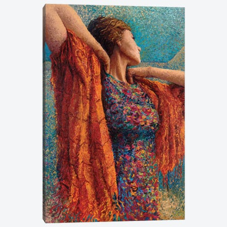 Miss Gibbons And The Scarf Canvas Print #IRS113} by Iris Scott Canvas Artwork