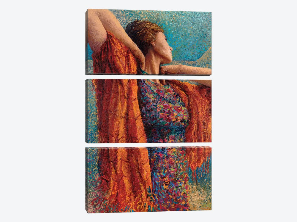 Miss Gibbons And The Scarf by Iris Scott 3-piece Canvas Print