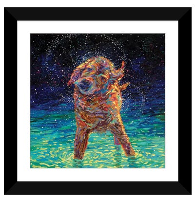 Moonlight Swim Framed Art Print