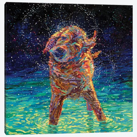 Moonlight Swim Canvas Print #IRS114} by Iris Scott Canvas Art Print