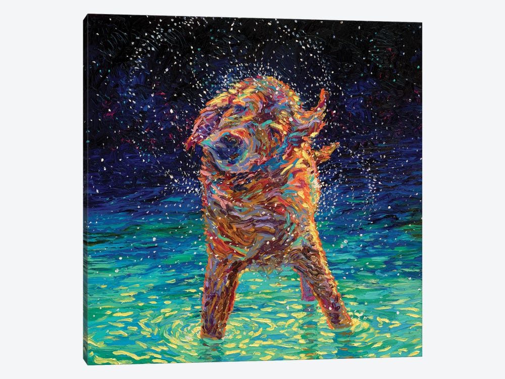 Moonlight Swim 1-piece Canvas Artwork