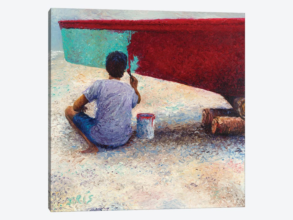 My Thai Boat Painter by Iris Scott 1-piece Canvas Print
