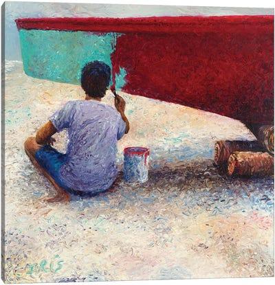 My Thai Boat Painter Canvas Art Print