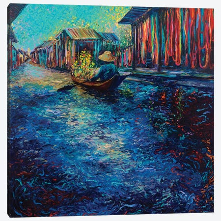 My Thai Floating Market Canvas Print #IRS116} by Iris Scott Canvas Print