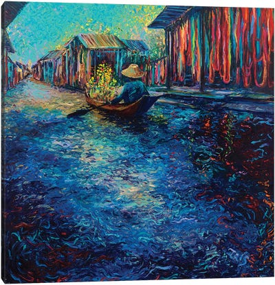 My Thai Floating Market Canvas Print #IRS116