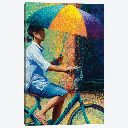 My Thai Sunbrella Canvas Print #IRS117} by Iris Scott Art Print