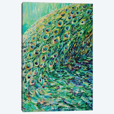 Peacock Diptych Panel I Canvas Print #IRS123} by Iris Scott Art Print