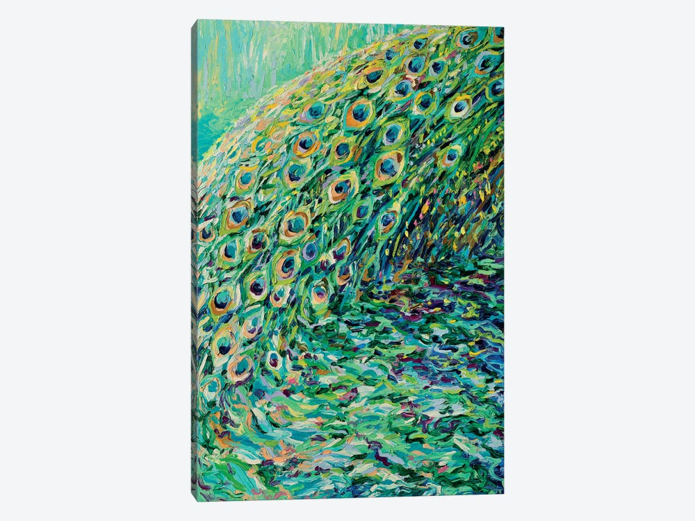 Peacock Diptych Panel I 1-piece Canvas Artwork
