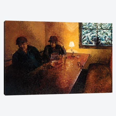 The Snorting Elk Pub Canvas Print #IRS131} by Iris Scott Canvas Wall Art