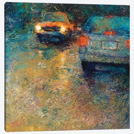 Volkswagen Blue Canvas Print #IRS132} by Iris Scott Canvas Artwork