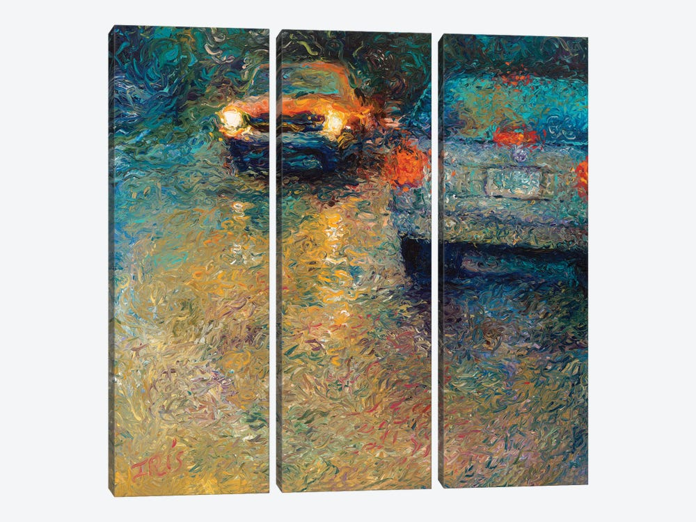 Volkswagen Blue by Iris Scott 3-piece Canvas Art