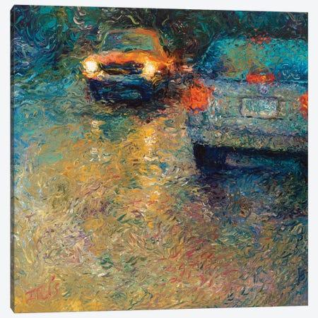 Volkswagen Blue Canvas Print #IRS132} by Iris Scott Canvas Artwork