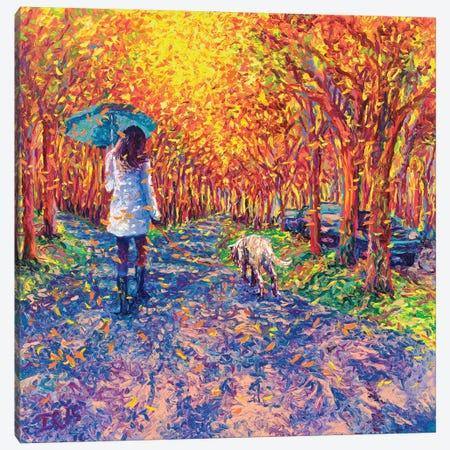 Windy White Coats Canvas Print #IRS134} by Iris Scott Canvas Art Print