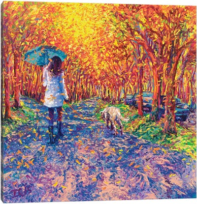 Windy White Coats Canvas Art Print