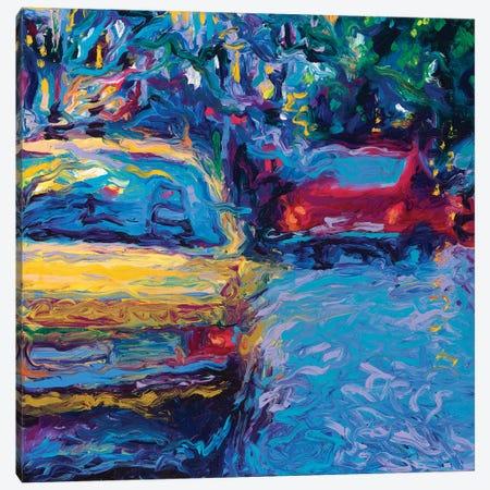 Yellow Volvo Canvas Print #IRS138} by Iris Scott Canvas Artwork