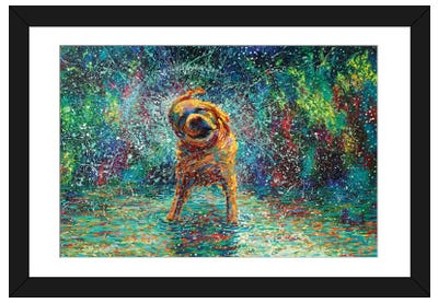 Shakin' Jake Framed Art Print