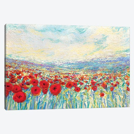 Poppies Of Oz Canvas Print #IRS144} by Iris Scott Canvas Art