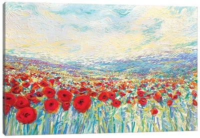 Poppies Of Oz Canvas Print #IRS144