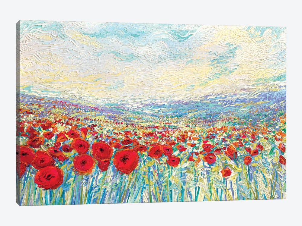 Poppies Of Oz by Iris Scott 1-piece Canvas Print