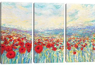 Poppies Of Oz by Iris Scott Canvas Art