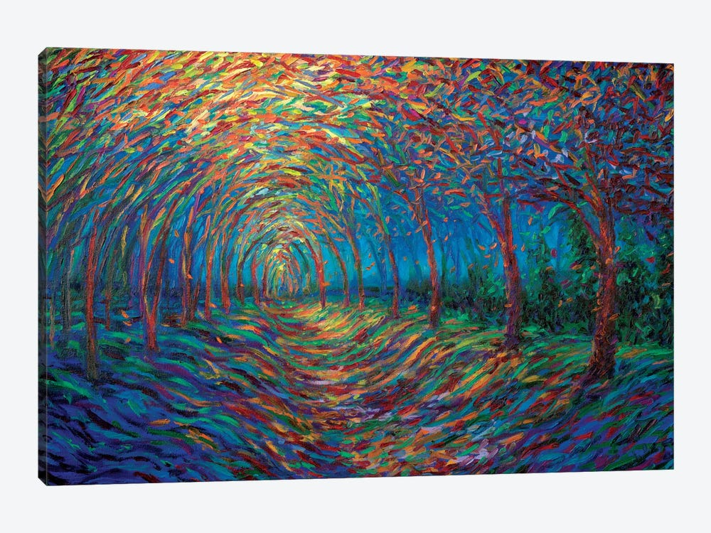 House Of Moon And Trees by Iris Scott 1-piece Canvas Artwork