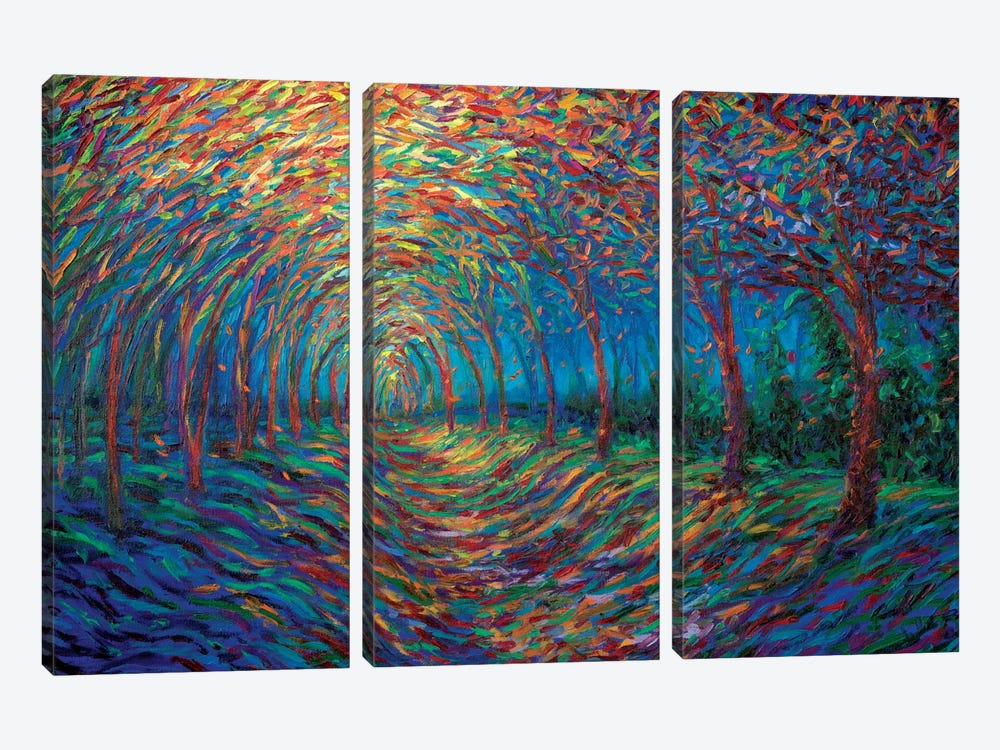House Of Moon And Trees by Iris Scott 3-piece Canvas Art