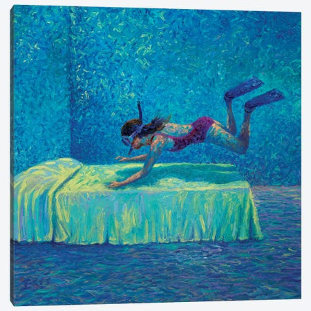 The Diver Canvas Print #IRS148} by Iris Scott Art Print