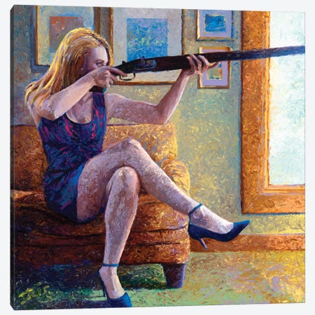 Claire's Gun Canvas Print #IRS14} by Iris Scott Canvas Art Print