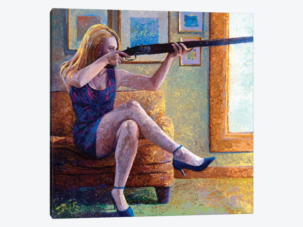 Claire's Gun by Iris Scott 1-piece Canvas Art Print