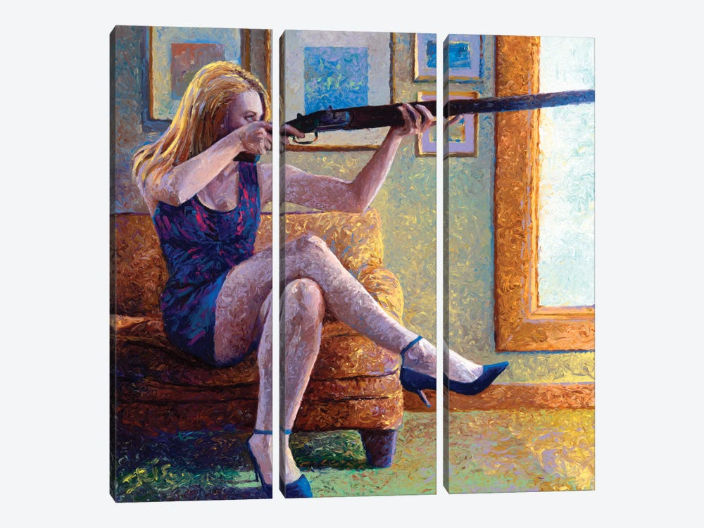 Claire's Gun by Iris Scott 3-piece Canvas Art Print