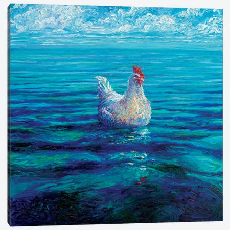 Chicken Of The Sea Canvas Print #IRS151} by Iris Scott Canvas Wall Art