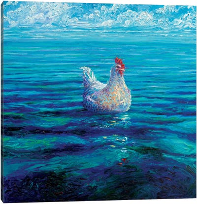 Chicken Of The Sea Canvas Print #IRS151