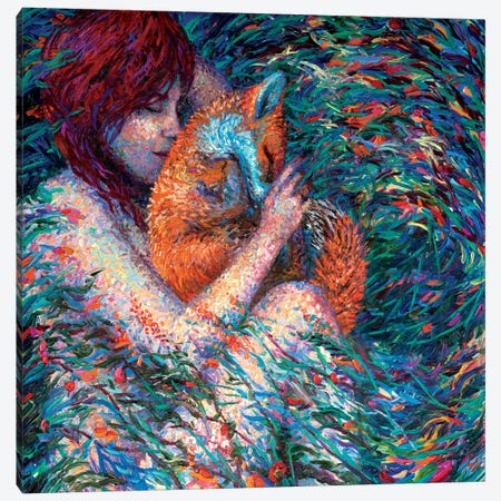 Foxglove Canvas Print #IRS152} by Iris Scott Canvas Wall Art