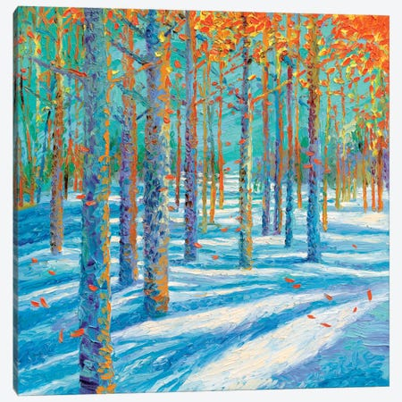 Frosted Fall Canvas Print #IRS153} by Iris Scott Canvas Wall Art