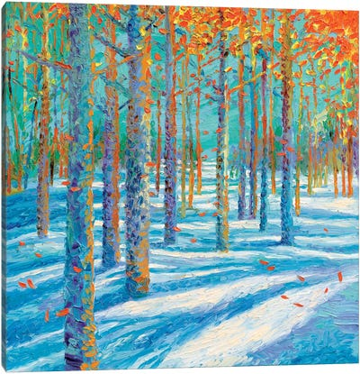 Frosted Fall Canvas Art Print