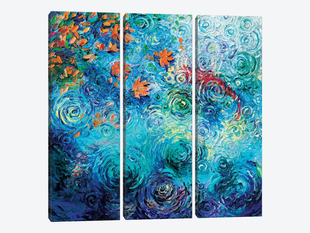 Green River Sockeye by Iris Scott 3-piece Canvas Artwork