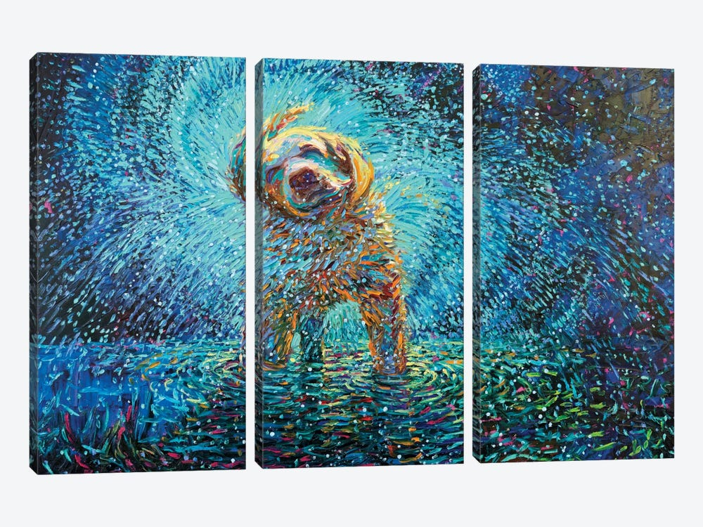 Labrador Jazz by Iris Scott 3-piece Canvas Art Print