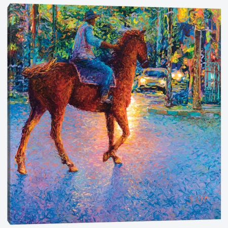 My Thai Cowboy Canvas Print #IRS161} by Iris Scott Art Print