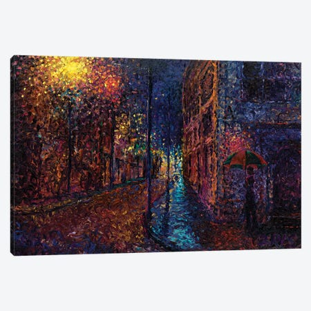 Purple Rain Canvas Print #IRS168} by Iris Scott Art Print