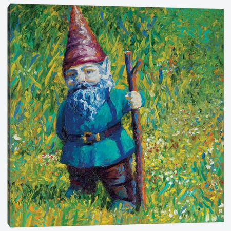 Garden Gnome Canvas Print #IRS179} by Iris Scott Canvas Wall Art