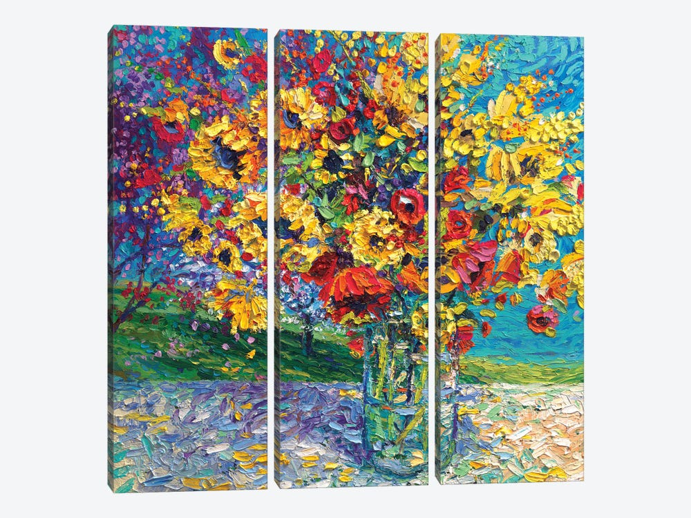 Sangria Licorice by Iris Scott 3-piece Canvas Artwork