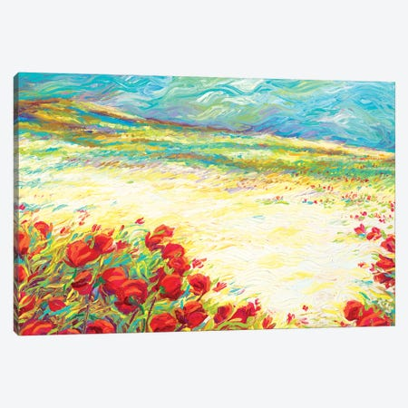 Spring Snow Canvas Print #IRS188} by Iris Scott Art Print