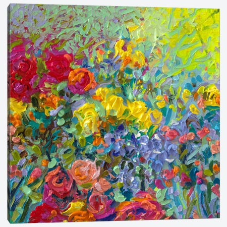 Clay Flowers Canvas Print #IRS198} by Iris Scott Canvas Artwork
