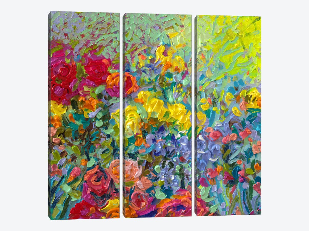 Clay Flowers by Iris Scott 3-piece Canvas Wall Art