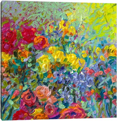 Clay Flowers Canvas Art Print